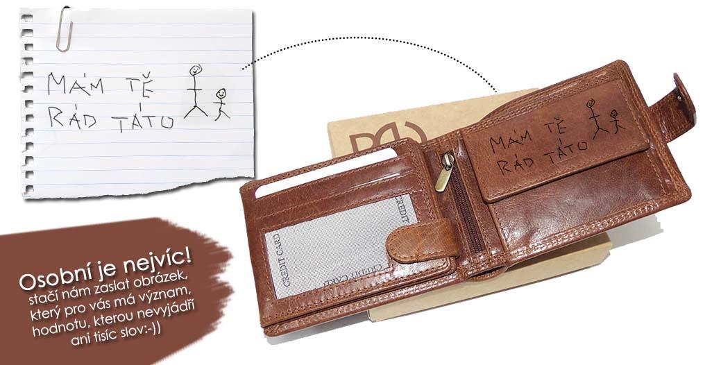 Vlastní obrázek na koženou peněženku? Ano, umíme