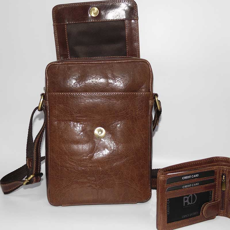 Luxusní kožený set s monogram, textem nebo fotkou