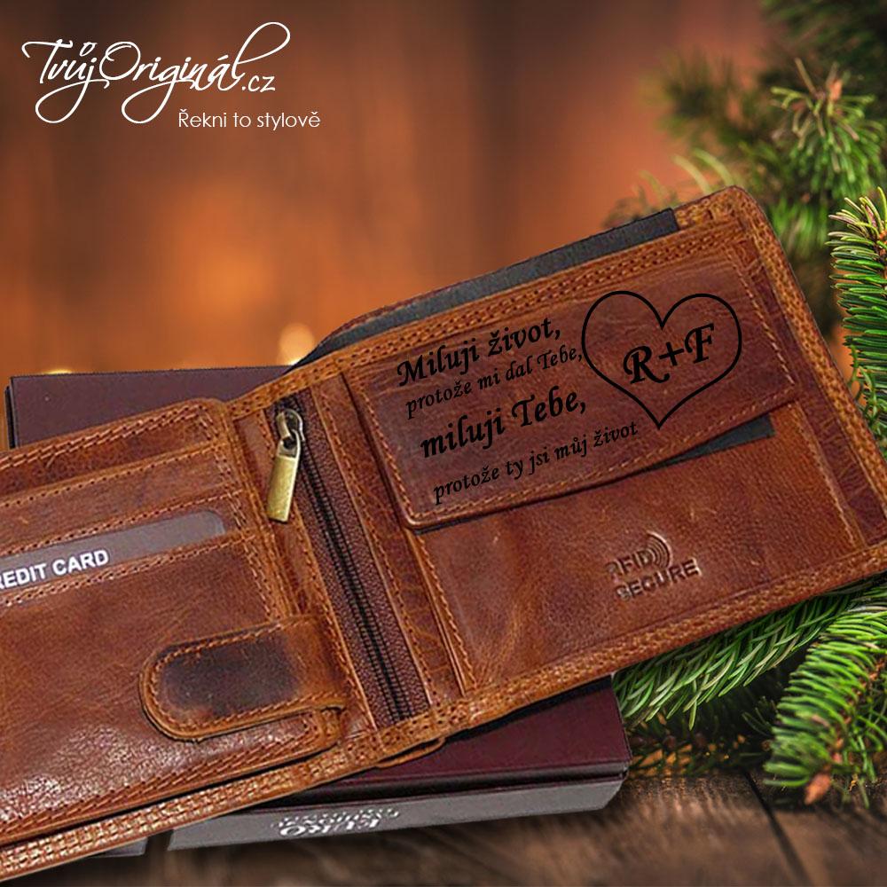 Tvůj originál je jen jeden, luxusní peněženka s vlastním věnováním