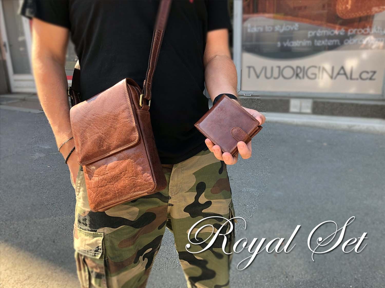 Limitováno! ROYAL LEATHER set kožené tašky a peněženky